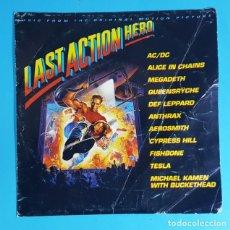 """Discos de vinilo: LAST ACTION HERO, AC/DC """"BIG GUN"""" CBS/SONY 1993 MELP 3048, SINGLE PROMOCIONAL SOLO UNA CARA. Lote 271088858"""