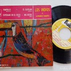 Discos de vinilo: LOS INDIOS DE ALPHONSO RAMIREZ - PIMPOLLO +3 - EP FRANCES BARCLAY 196? // LATIN. Lote 271103693