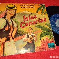 Discos de vinilo: LOS HUARACHEROS MI GRAN CANARIA/ADIOS VIAJERO/LAS FOLIAS SON DEL ALMA/A LA VIRGEN PIDO YO EP 195?. Lote 271108273