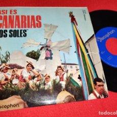Discos de vinilo: LOS SOLES FOLIAS/ISAS/SEGUIDILLAS SALTONAS EP 7'' 1963 DISCOPHON CANARIAS FOLK. Lote 271108723
