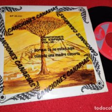 Discos de vinilo: LA PARRANDA DE MILAN PORQUE TU NO ESTAS AQUI/CUANDO UNA MADRE CANARIA EP 1968 CANARIAS VOL.III. Lote 271108993