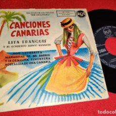 Discos de vinilo: LITA FRANQUIS SOY LECHERITA/MAÑANITAS DE MI BARRIOS +2 EP 7'' 195? RCA CANCIONES CANARIAS. Lote 271109898