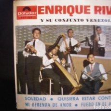 Discos de vinilo: ENRIQUE RIVAS Y SU CONJUNTO VENEZOLANO- SOLEDAD. EP.. Lote 271129283