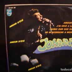 Discos de vinilo: JOHNNY HALLIDAY- AMOUR D´ETÉ. EP.. Lote 271137328