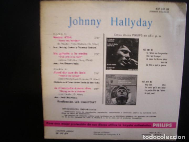 Discos de vinilo: JOHNNY HALLIDAY- AMOUR D´ETÉ. EP. - Foto 2 - 271137328