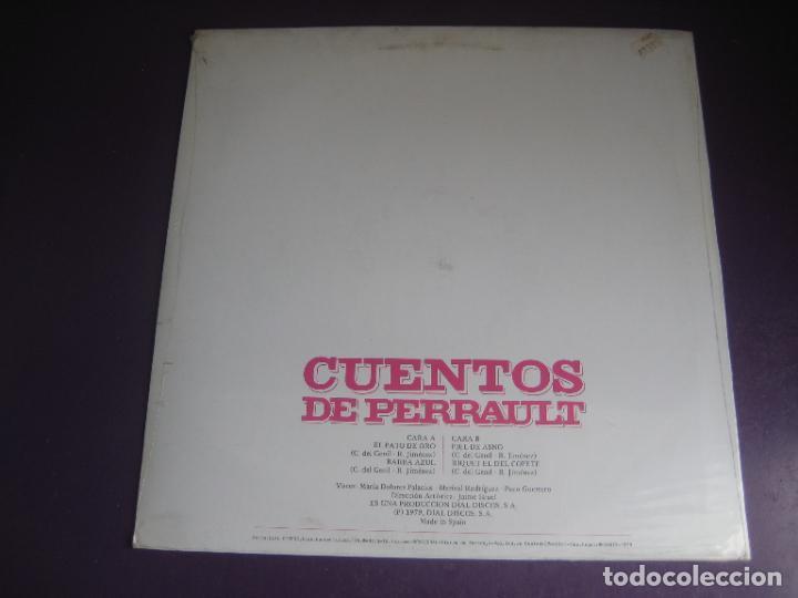 Discos de vinilo: CUENTOS DE PERRAULT - LP DOBLON 1979 - PIEL DE ASNO - BARBA AZUL - PATO DE ORO - RIQUET EL DEL COPET - Foto 2 - 271144123