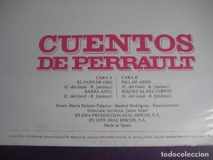 Discos de vinilo: CUENTOS DE PERRAULT - LP DOBLON 1979 - PIEL DE ASNO - BARBA AZUL - PATO DE ORO - RIQUET EL DEL COPET - Foto 3 - 271144123