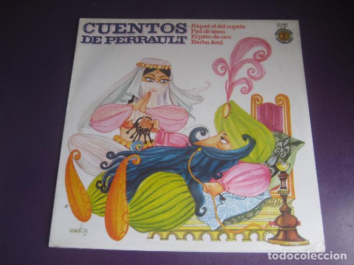 CUENTOS DE PERRAULT - LP DOBLON 1979 - PIEL DE ASNO - BARBA AZUL - PATO DE ORO - RIQUET EL DEL COPET (Música - Discos - LPs Vinilo - Música Infantil)