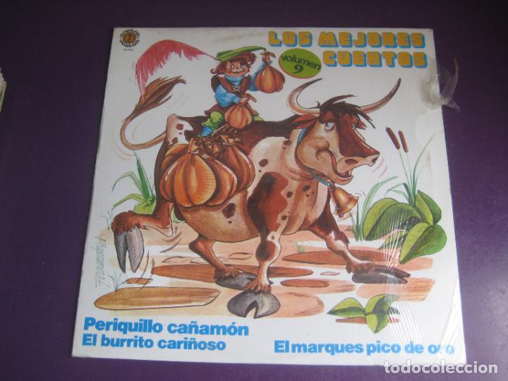 LOS MEJORES CUENTOS VOL 9 - LP DOBLON 1981 - EL BURRITO CARIÑOSO- PERIQUILLO CAÑAMON -ETC (Música - Discos - LPs Vinilo - Música Infantil)