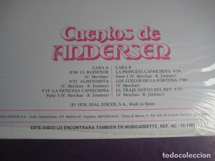 Discos de vinilo: CUENTOS DE ANDERSEN - LP NEVADA 1978 - EL TRAJE NUEVO DEL REY - EL RUISEÑOR - ALMENDRITA ETC - Foto 3 - 271145473