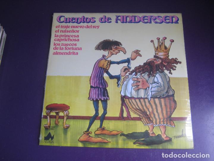 CUENTOS DE ANDERSEN - LP NEVADA 1978 - EL TRAJE NUEVO DEL REY - EL RUISEÑOR - ALMENDRITA ETC (Música - Discos - LPs Vinilo - Música Infantil)