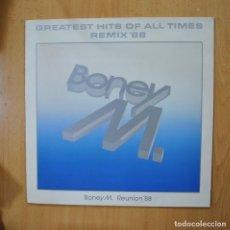 Discos de vinilo: BONEY M - GREATEST HITS OF ALL TIMES REMIX 88 - LP. Lote 271147708