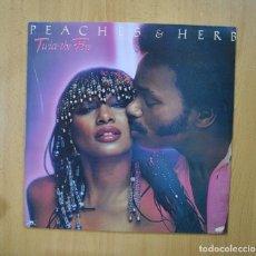 Discos de vinilo: PEACHES & HERB - TWICE THE FIRE - LP. Lote 271148448