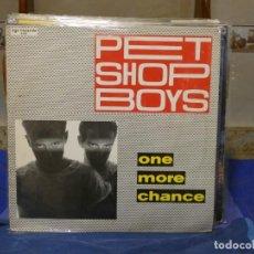 Disques de vinyle: MAXISINGLE PET SHOP BOYS ONE MORE CHANCE 1986 MUY BUEN ESTADO VINILO. Lote 271157513