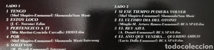 Discos de vinilo: EMMANUEL. LP. SELLO RCA VICTOR. EDITADO EN ESPAÑA. AÑO 1983 - Foto 2 - 271364198