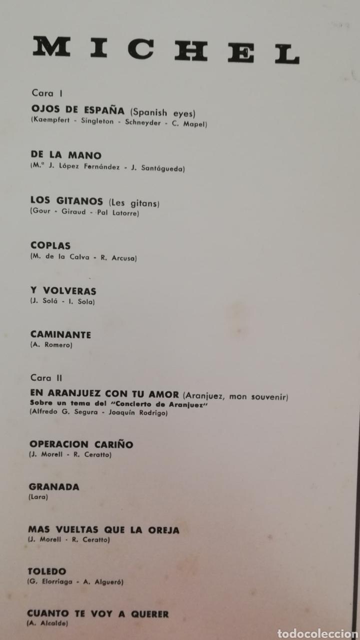 Discos de vinilo: MICHEL. LP. SELLO BELTER. EDITADO EN ESPAÑA. AÑO 1968 - Foto 2 - 271364778