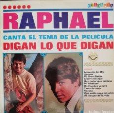 Discos de vinilo: RAPHAEL. LP. SELLO COLORAMA. EDITADO EN VENEZUELA.. Lote 271365503