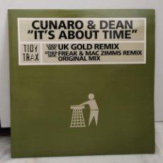 Discos de vinilo: CUNARO & DEAN – IT'S ABOUT TIME. Lote 271366183