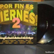 Discos de vinilo: POR FIN ES VIERNES,2 LOS MEJORES TEMAS DE DISCOTECA, DOBLE LP MAX MUSIC 1992 SPAIN PEPETO. Lote 271369493