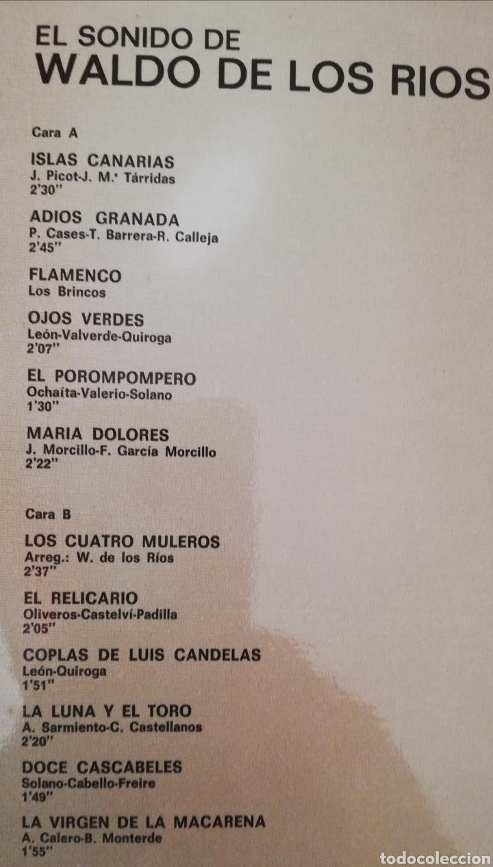 Discos de vinilo: WALDO DE LOS RÍOS. LP. SELLO HISPAVOX. EDITADO EN ESPAÑA. AÑO 1978 - Foto 2 - 271373738