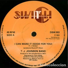 Discos de vinilo: T. J. JOHNSON BAND – I CAN MAKE IT (GOOD FOR YOU). Lote 271379323