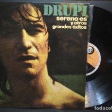 Disques de vinyle: DRUPI - SERENO ES Y OTROS GRANDES EXITOS LP HISPAVOX 1976 PEPETO. Lote 271380333