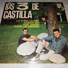 Discos de vinilo: LOS 3 DE CASTILLA-LA LUNA CLARA-ORIGINAL AÑO 1969-EN BUEN ESTADO. Lote 271388513