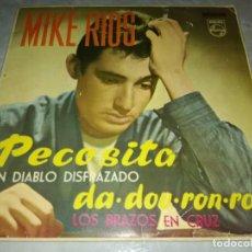 Discos de vinilo: MIKE RIOS-LA PECOSITA-LOS BRAZOS EN CRUZ-ORIGINAL AÑO 1963. Lote 271390843