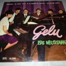 Discos de vinilo: GELU Y LOS MUSTANG-DOMINIQUE-ORIGINAL AÑO 1964. Lote 271395228