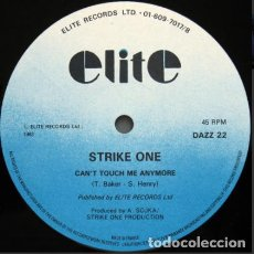 Discos de vinilo: STRIKE ONE – CAN'T TOUCH ME ANYMORE. Lote 271397278
