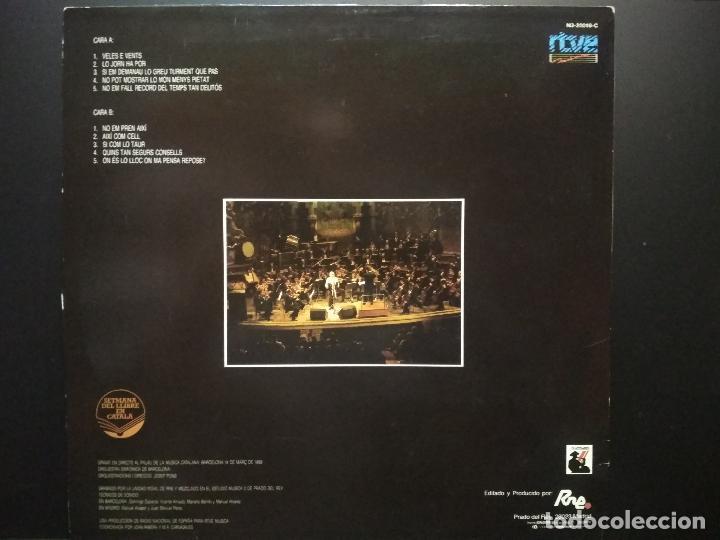 Discos de vinilo: RAIMON - CANTA AUSIAS MARCH LP RTVE 1989 CON ENCARTE PEPETO - Foto 2 - 271402353
