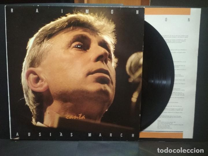 RAIMON - CANTA AUSIAS MARCH LP RTVE 1989 CON ENCARTE PEPETO (Música - Discos - LP Vinilo - Solistas Españoles de los 70 a la actualidad)