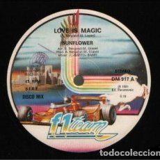 Discos de vinilo: SUNFLOWER – LOVE IS MAGIC. Lote 271411248