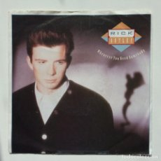 Discos de vinilo: RICK ASTLEY – WHENEVER YOU NEED SOMEBODY / JUST GOOD FRIENDS UK,1987 RCA. Lote 271411653