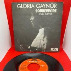 Discos de vinilo: GLORIA GAYNOR - SOBREVIVIRE - SINGLE ORIGINAL ESPAÑOL - POLYDOR 1978. Lote 271442328
