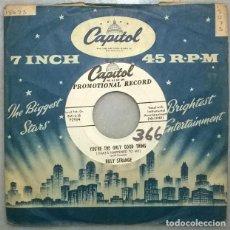 Discos de vinilo: BILLY STRANGE. I GOTTA BE GITTIN' HOME/ YOU'RE THE ONLY GOOD THING. CAPITOL, USA 1954 SINGLE PROMO. Lote 271445223
