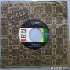 Discos de vinilo: WEBB PIERCE. LOVERS LEAP/ IS IT WRONG. DECCA, USA 1960 SINGLE. Lote 271446128