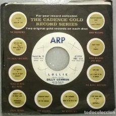 Discos de vinilo: BILLY LEHMAN & THE ROCK-ITTS. LOLLIE/BLACK DERBY. ARP, USA 1959 SINGLE. Lote 271447718