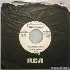 Discos de vinilo: COUNTRY ALL-STARS. THE VACATION TRAIN/ DO SOMETHING. RCA, USA 1955 SINGLE PROMO. Lote 271449178