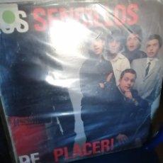 Discos de vinilo: LOS SENCILLOS - DE PLACER LP 1990. Lote 271495363