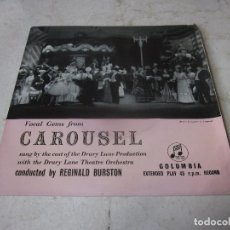Discos de vinilo: THE DRURY LANE THEATRE ORCHESTRA - VOCAL GEMS FROM CAROUSEL - COLUMBIA UK. Lote 271518728
