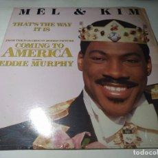 Discos de vinilo: MAXI - MEL & KIM – THAT'S THE WAY IT IS - 0-96613 (VG+ / VG+) US 1988. Lote 271531993