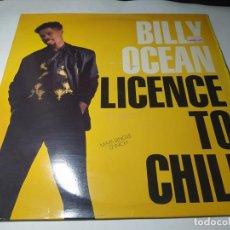 Discos de vinilo: MAXI - BILLY OCEAN – LICENCE TO CHILL - ZT 43126 (VG+ / VG+) EURO 1989. Lote 271532198