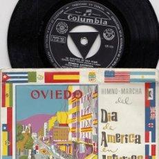 Discos de vinilo: ORFEON DE AVILES - HIMNO MARCHA DEL DIA DE AMERICA EN ASTURIAS - EP DE VINILO FOLKLORE ASTURIANO. Lote 271548788
