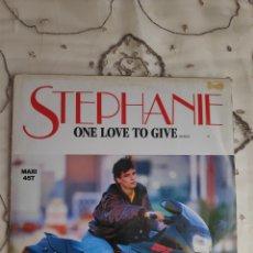 Discos de vinilo: VINILO MAXISINGLE - STEPHANIE - ONE LOVE TO GIVE(REMIX). Lote 271549858