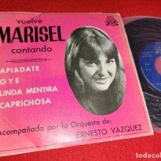 Discos de vinilo: MARISEL APIADATE/OYE/LINDA MENTIRA/CAPRICHOSA EP 1975 LUYTOM PROMO. Lote 271551593