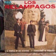 Discos de vinilo: ** LOS RELÁMPAGOS - EL TEMPLO DE LAS ESTATUAS /FERROCARRIL DE MONTAÑA -SG AÑO 1969 -LEER DESCRIPCIÓN. Lote 271551933