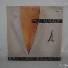 Discos de vinilo: 6/21# VINILO 12´´ - LP - PAUL MAURITAT - BEST OF FRANCE / PHILIPS 834 370-1. Lote 271552468