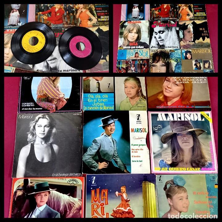 LOTE DE 18 SINGLES DE MARISOL -VER FOTOS (Música - Discos - Singles Vinilo - Solistas Españoles de los 70 a la actualidad)
