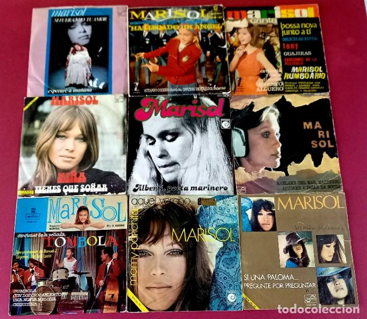 Discos de vinilo: LOTE DE 18 SINGLES DE MARISOL -VER FOTOS - Foto 2 - 271557288